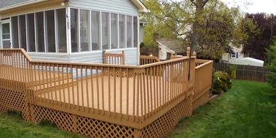 Deck Repairs, Lattice Replacement, Pressure Washing and Staining.