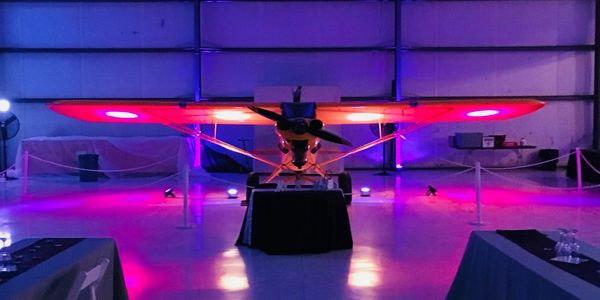 Event Space in Main Hangar at Bardstown Airport in Bardstown, KY.