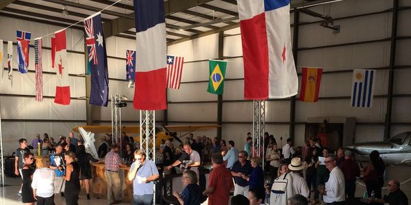 Corporate Event at Bluegrass Aviation main hangar at the Bardstown Airport in Bardstown, KY