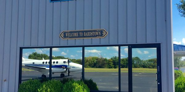 Bluegrass Aviation's Bardstown FBO building  at Samuel's Field in Bardstown, KY.