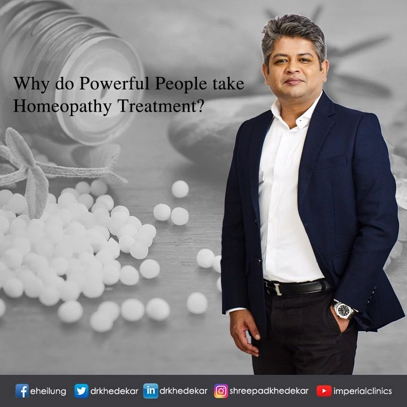 WHY DO POWERFUL PEOPLE TAKE HOMEOPATHY?