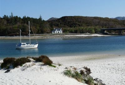 Kinegarry, looking back toward the Morar River, The shortest river in the UK.