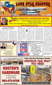 news newspaper advertising east texas van zand wood rains counties canton wills point mineola tyler.