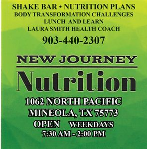 BE HEALTHY - LIVE HEALTHY IN MIINEOLA  AT NEW JOURNEY NUTRITION.