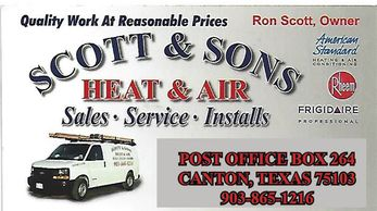Heating and cooling repair and sales
