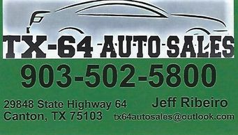 USED CAR SALES FOR EAT TEXAS, VAN ZANDT COUNTY AND CANTON, TEXAS.