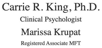 Carrie R. King, Ph.D. Clinical Psychologist Marissa Krupat, Regis