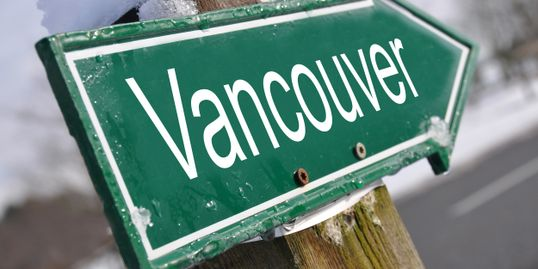 Vancouver BC street sign.