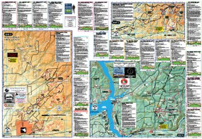 Mountain Biking Trail Map Southwest CO Cortez Dolores Mancos Rico.  Boggy Draw, Phil's World, CANM.