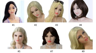 Sex Robot Faces Image showing seven choices of robot face