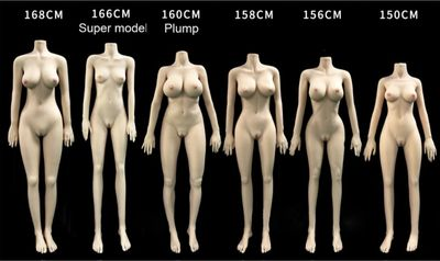 Sex Robot Bodies Choice comparison image showing all six body choices