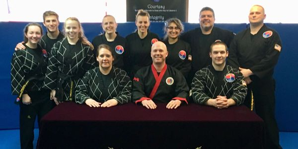 Black Belts who attended the Spring 2018 Black Belt test.