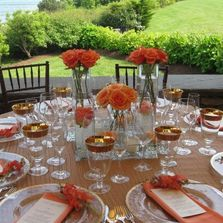 Newport wedding, The Chanler Newport, orange flowers, wedding details