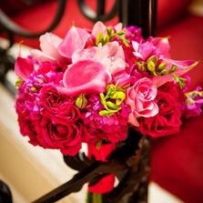 Pink bridal bouquet Newport Rhode Island Wedding
