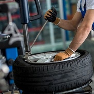 Tire repairs at Auto Tech of East Tawas.