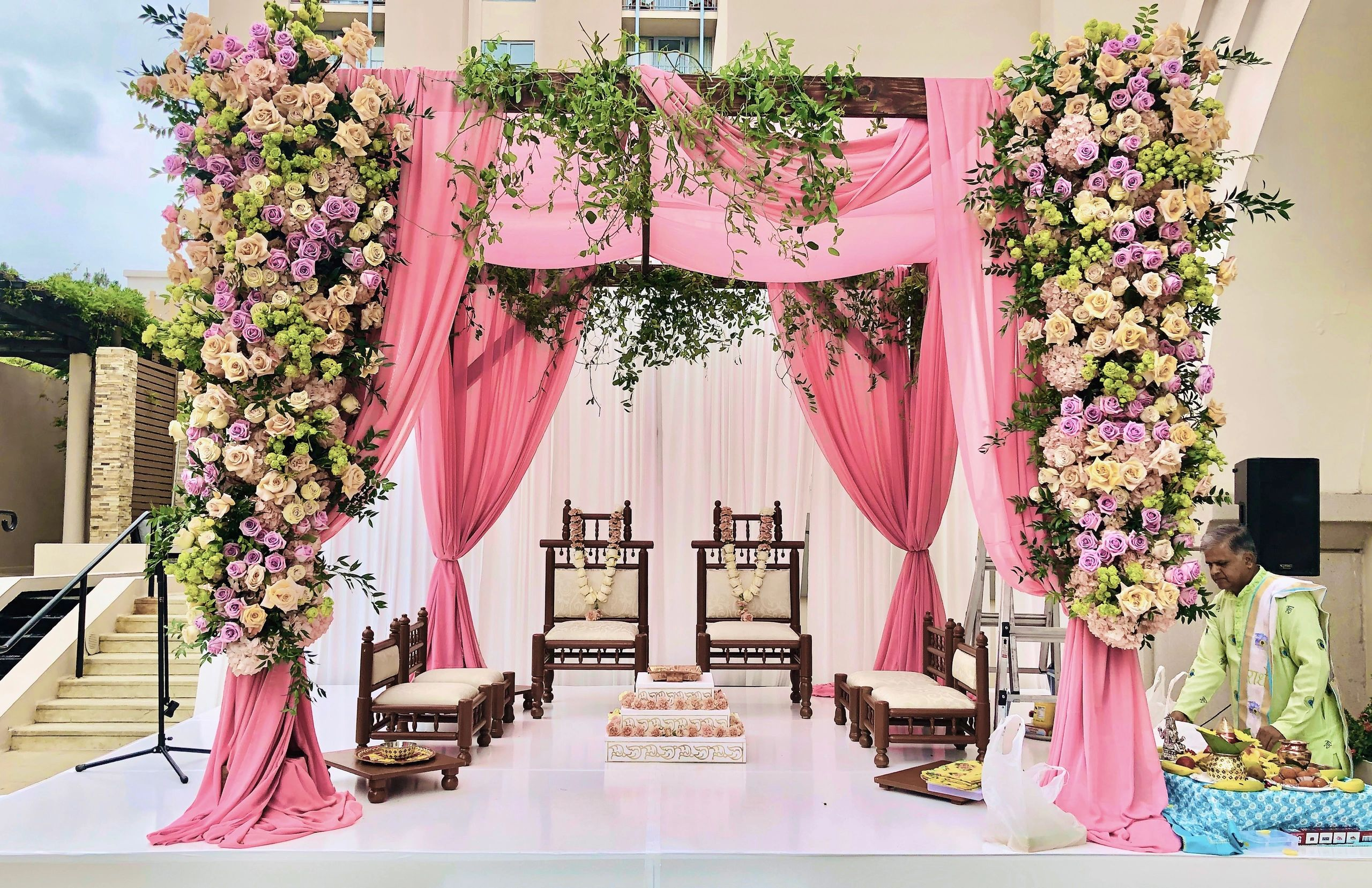 Indian Wedding Mandap for Bride and Groom Wedding Ceremony