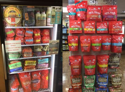 Raw, Frozen, and Freeze dried Dog food and cat food. Orijen, Taste of the wild, canidae, diamond, acana, nutro, blue, stella and chewy, nulo primal pet  food