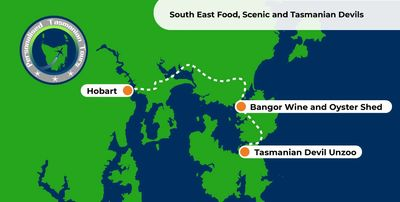 Map - South East Scenic, Food & Devils Tour