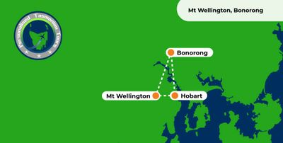 Map -  Mt Wellington Bonorong Tour