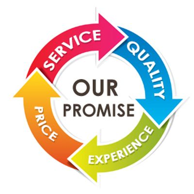 We promise the best service, quality, and experience with competitive pricing.