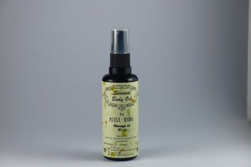 Body oil deeply nourishing and yet not greasy with a sensual fragrance with Violet and Jasmine notes