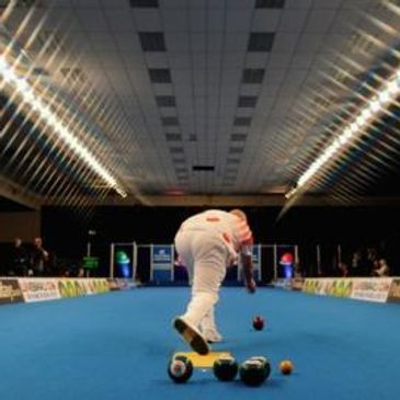 picture of someone playing indoor bowling