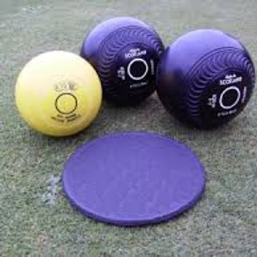 photo of crown green bowls and crown green bowling jack