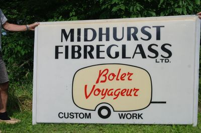 Original Midhurst factory sign presently owned by collector Paul Neumeister of Ontario.