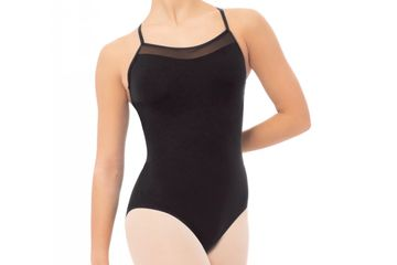An example of a black leotard.