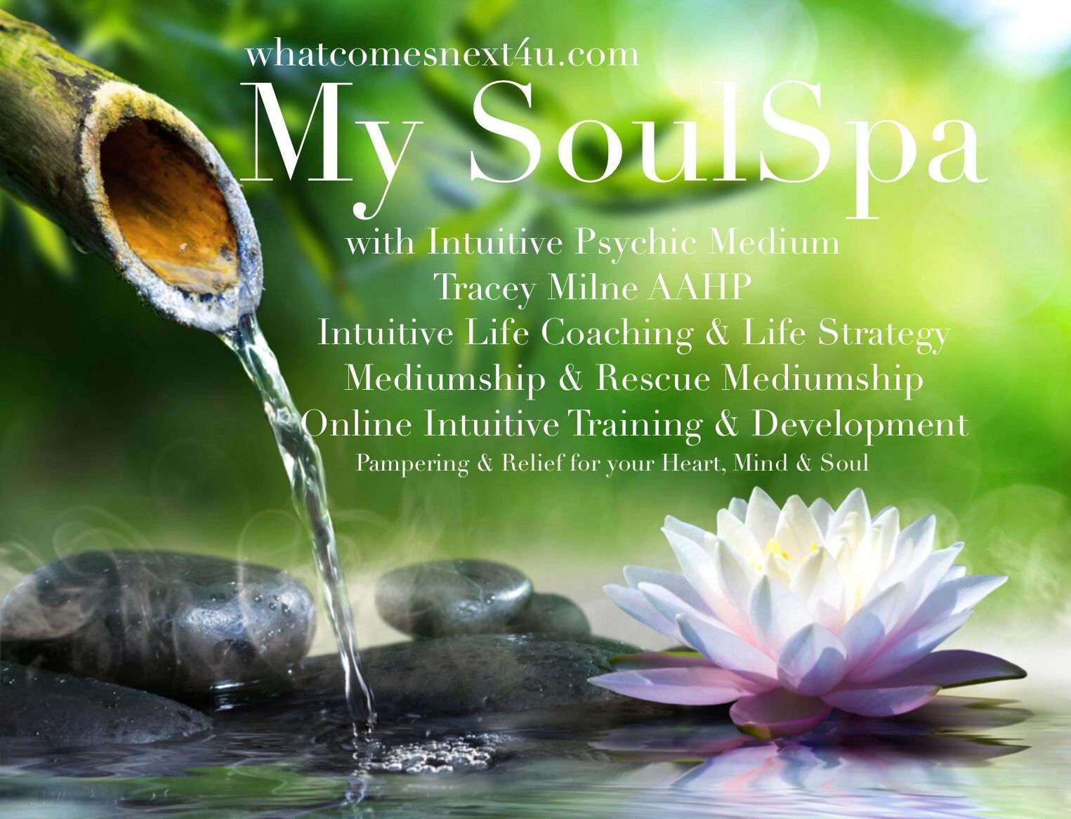 My SoulSpa Intuitive Services. Psychic Readings, Mediumship, Life Coach, Ghost clearing& training