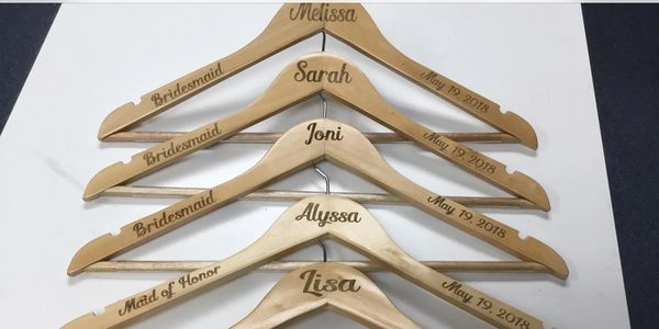 Wood Engraved Hangers