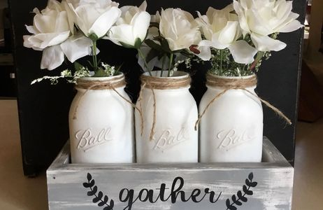 3 Piece Decorative Mason Jar Set