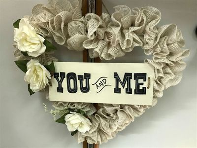 You & Me Heart Wreath