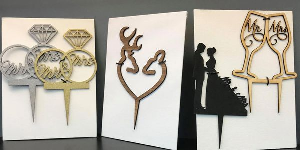 Laser Engraved Cake Toppers