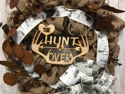 The Hunt Is Over Camo Wreath