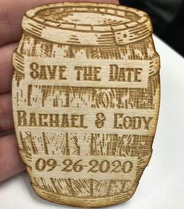 Laser Engraved Save The Dates