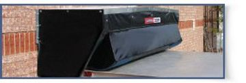 The Rain Deflector provides a perfect seal from the dock to the trailer roof thus directing the rain