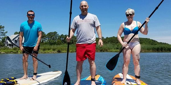 Paddleboard classes and paddleboard rentals on Kent Island