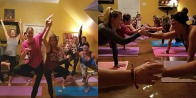 Wine Tasting and Yoga Party