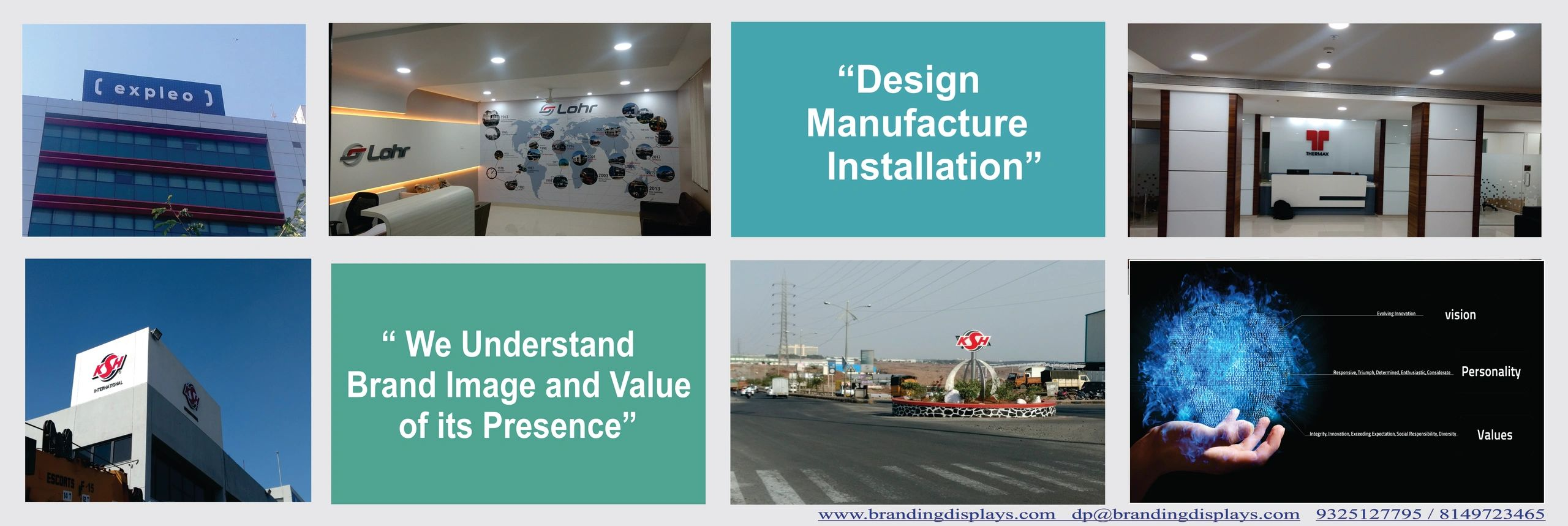 We are In to Manufacturing of Signage and Graphics with an extensive experience .