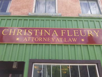 Christina Fleury announces the opening of her new law firm located at 517 Main St, Towanda, PA