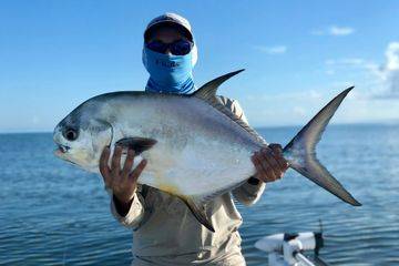 Fly fishing Permit on Biscayne Bay flats