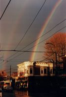 "Rainbow over The Drive. ""Freedom in East Vancouver, The Photography and Writing of Alan Fossen."""