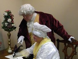 George and Martha Washington and the founding of a new nation.  They share a variety of moments of t