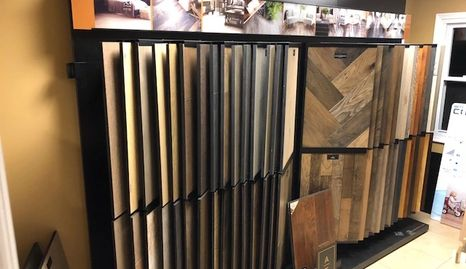 Large selection of hardwood prefinished floors.