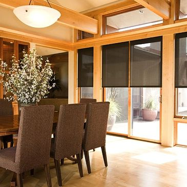 Solar Shades reduce glare and the damaging effects of sun fading to furnishings and floors