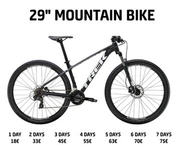Mountain Bike for rent / hire at Bike Rental Tenerife in Costa Adeje, Americas, Cristianos.