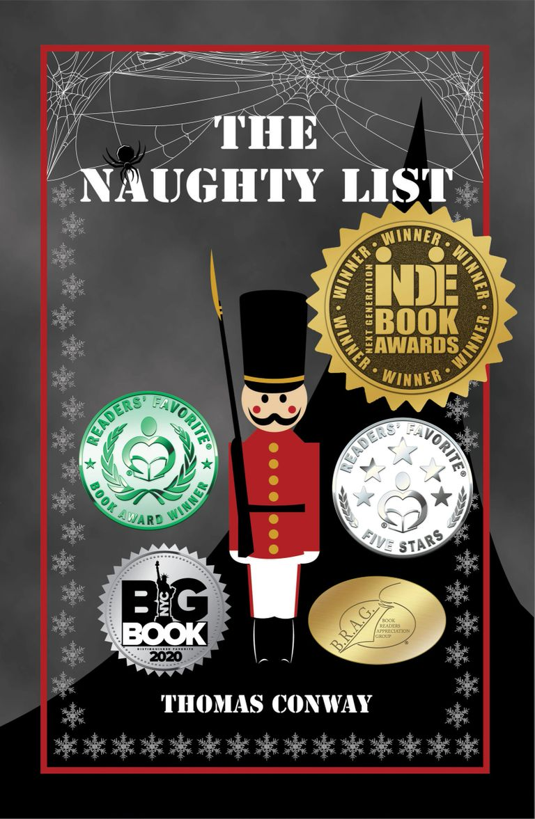 The Naughty List cover.  Christmas book for kids of all ages.