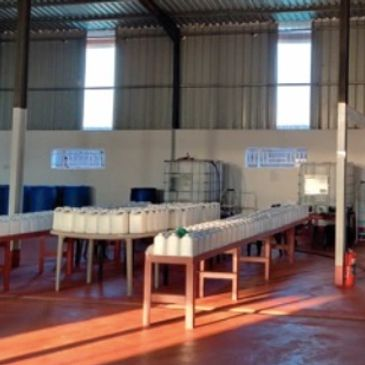 Malawian warehouse where Virisafe is developed and bottled.