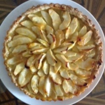 Apple flan Nova Scotia apples recipe theloveofteamag.com
